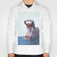 hippo Hoodies featuring Hippo by MGNFQ