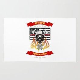 Retired Firefighter Thin Red Line Professional Hero Retirement Gift Rug