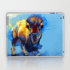 On the Plains - Bison painting Laptop & iPad Skin