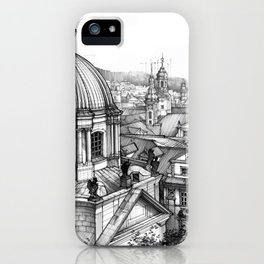 Prague over the rooftops iPhone Case