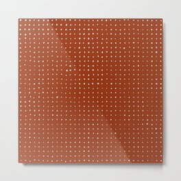 Light grey dots on rust Metal Print