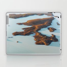 Abstract Aerial View of Lake Laptop & iPad Skin