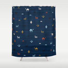 Jarmo in Blue Shower Curtain