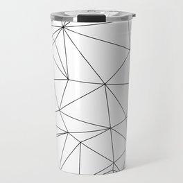 Black and White Geometric Minimalist Pattern Travel Mug