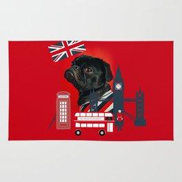 Proud London Pug Rug