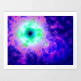 Space Eye Art Print