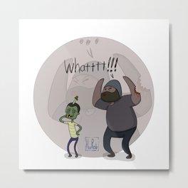 The Walking Dead Tyreese got bit by a kid Metal Print