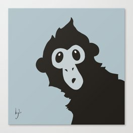 Spider Monkey - Peekaboo! Canvas Print