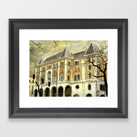 Grey day (Budapest) Framed Art Print