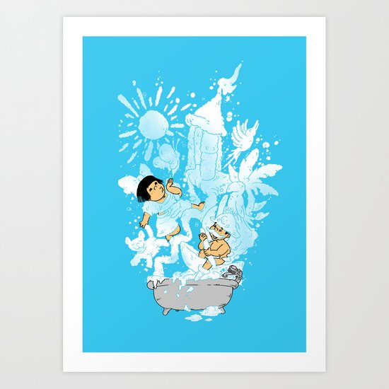 The Bubbly Imagination Art Print
