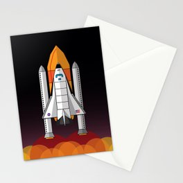 Space Shuttle night launch Stationery Cards