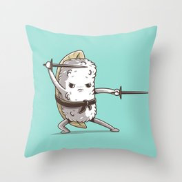 Samurai sushi - Eel Throw Pillow