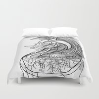 dragon Duvet Covers featuring Dragon. by sonigque