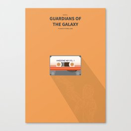 Guardians of the galaxy - minimal poster Canvas Print