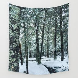 Spring Snow Wall Tapestry