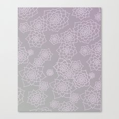 Faded Desert Floral Canvas Print