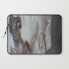 Close Up Abstract Of Blue Grey and Brown Bark Laptop Sleeve
