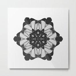 Grunge Christmas Snowflake Metal Print