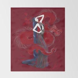 Dreaming Dragons Throw Blanket