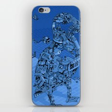 Blue Bird Machine City iPhone & iPod Skin