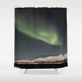 Aurora Borealis Northern Light Show In Norway Photo | Winter Night Art Print | Travel Photography Shower Curtain