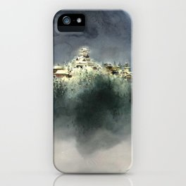 The village in the clouds iPhone Case