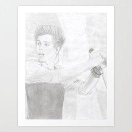 Luke 5 Seconds in Concert Drawing Art Print