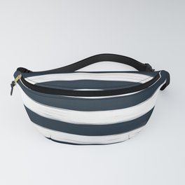 Painted Stripes - Dark Blue and White #decor #society6 #buyart Fanny Pack