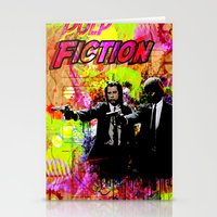 pulp fiction Stationery Cards featuring Pulp Fiction  by Zoé Rikardo