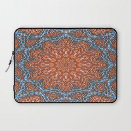 Blue - orange kaleidoscope Laptop Sleeve
