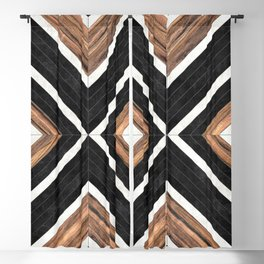 Urban Tribal Pattern No.1 - Concrete and Wood Blackout Curtain