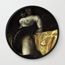 Franz von Stuck - The sensuality - Digital Remastered Edition Wall Clock