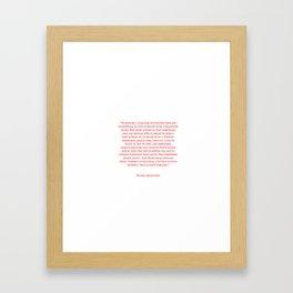 Typewriter Style Quote ((Bianca Sparacino)) Framed Art Print