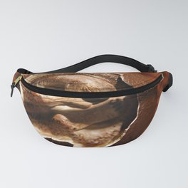 Dinosaur egg with embryo Fanny Pack