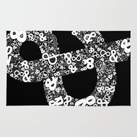 helvetica Area & Throw Rugs featuring Helvetica Ampersand by Phillip Kauffman