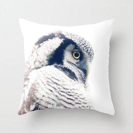 Hawkowl Throw Pillow
