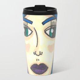 Fur Hooded Girl Travel Mug