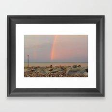 Rainbow out at Sea Framed Art Print