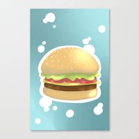hamburger Canvas Prints featuring Hamburger  by Elisehill3