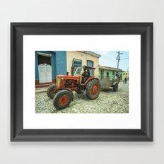 Trinidad tractor Framed Art Print