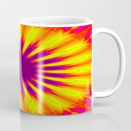 Sunrise Color Burst Flower Coffee Mug