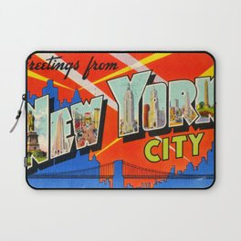 Greetings From New York City Laptop Sleeve