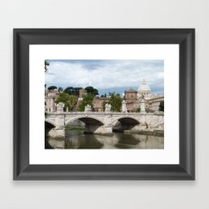 Vittorio Emanuele II bridge and Vatican city Framed Art Print