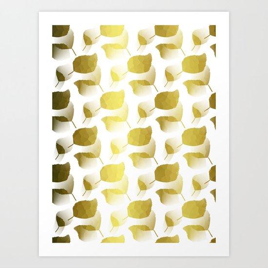 Golden Cascade Art Print
