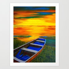 Rusty old boat Art Print