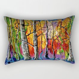 Enchanted Universe Modern Art Rectangular Pillow