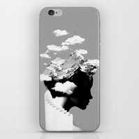 silhouette iPhone & iPod Skins featuring It's a cloudy day by Robert Farkas