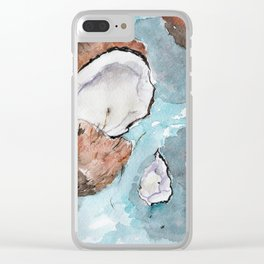 Sunny coconuts Clear iPhone Case