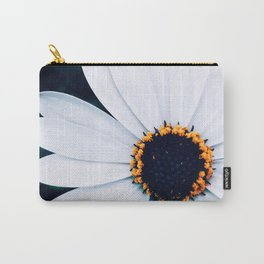 White Aster Carry-All Pouch