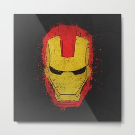Iron Man splash Metal Print